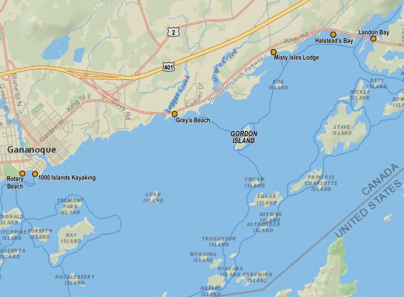 Map Of Thousand Islands Canada Gordon Island – Amazing Places